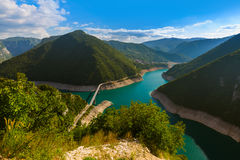 Piva jar - Montenegro fotografia stock