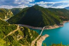 Piva kanjon - Montenegro Royaltyfria Bilder