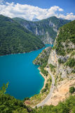 Piva lake Royalty Free Stock Images