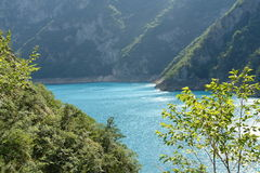Piva River. The beautiful Piva river, with it's turquoise color and it's magnificent surroundings Stock Photography