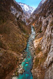 Piva river canyon Royalty Free Stock Photos