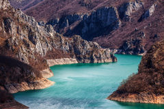 Piva river canyon Stock Image