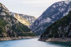 Piva rzeczny jar w północnym Montenegro zdjęcia royalty free