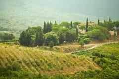 Pivate-Landhaus bei Toscany Stockfoto