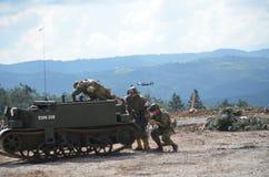 PIVKA, †SLOVENJIA «21 09 2014 представлений сражения первой мировой войны стоковое фото rf