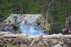 PIVKA, †di SLOVENJIA «21 09 2014 rappresentazioni di una battaglia della prima guerra mondiale immagini stock libere da diritti