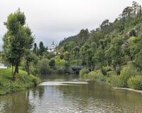 Pivka-Fluss in Postojna, Slowenien stockfotos