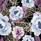 Pivoines doucement roses Modèle sans couture de fond Texture d'impression de papier peint de tissu illustration stock