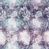 pivoines Fond d'aquarelle Papier peint abstrait avec des motifs floraux Configuration sans joint Photos stock