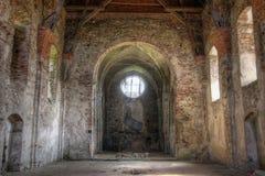PIVON TJECKIEN, JULI 18, 2017: Fördärvar av kloster Arkivbild