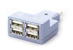 Pivot à quatre orifices d'USB, d'isolement Photo stock