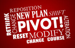 Pivot Change Course New Business Model Words Stock Images
