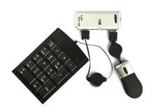 Pivot d'USB avec le clavier et la souris Photo stock