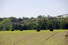Pivot Irrigation Machinery Stock Photo
