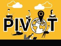 Pivote creativo y gente del concepto de la palabra que hacen actividades técnicas libre illustration