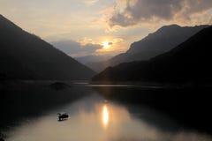 Pivsko Jezero, εθνικό πάρκο Durmitor, Μαυροβούνιο στοκ εικόνες με δικαίωμα ελεύθερης χρήσης
