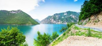 Pivsko Jezero, Черногория Стоковое Изображение RF