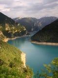 Pivsko Jezero, Durmitor nationalpark, Montenegro arkivbilder