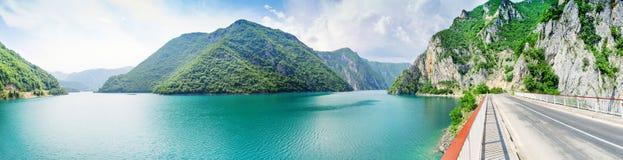 Pivsko Jezero, Montenegro. Panoramic view of Pivsko Jezero, Montenegro Royalty Free Stock Image
