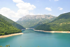 Pivsko Lake, Montenegro. Beautiful Pivsko Lake near Pluzine town, Montenegro Royalty Free Stock Photography
