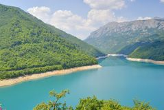 Pivsko Lake, Montenegro. Beautiful Pivsko Lake near Pluzine town, Montenegro Stock Photos