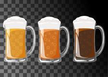 Piw ustalonych szkieł różni typ Obrazy Stock