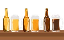 Piw ustalonych szkieł różni typ Obraz Royalty Free