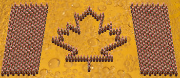 piwa butelek Canada flaga Zdjęcia Stock