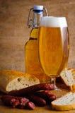 piwa chleba wysuszony salami Zdjęcie Stock