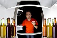Piwa w fridge Zdjęcia Royalty Free