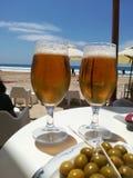 Piwa wkrótce plażowy dobry obrazy stock