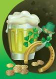 piwa zielony Patrick s st Obrazy Royalty Free