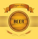 Piwna baryłka dla etykietki, pakunek Zdjęcia Royalty Free