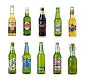 Piwna butelka odizolowywająca Fotografia Stock