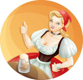 Piwna dziewczyna Zdjęcie Royalty Free