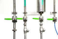 Piwna fabryczna Browarniana maszyneria zdjęcia stock