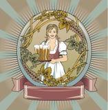 piwna kelnerka Obrazy Royalty Free