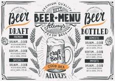 Piwna menu restauracja, napoju szablon royalty ilustracja