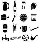 Piwne karczemne ikony ustawiać Zdjęcie Royalty Free