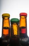 piwne tło butelki barwią delikatna pomarańcze fotografującego pracownianego kolor żółty Obraz Stock