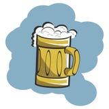 PIWNEGO bardzo chłodno piwnego bro lodu mężczyzna Mary crismas nowego roku świeży piwny alkohol obraz stock