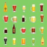 Piwnego kubka wektoru szklany set Alcholol pije różnego rodzaj royalty ilustracja