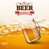 Piwnego menu zimna szklany lód Obraz Stock