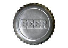 Piwnej butelki nakrętka zdjęcie stock