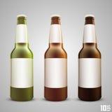 Piwnej butelki ustalony kolor Zdjęcie Stock