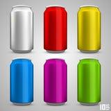 Piwnej butelki ustalony kolor Fotografia Stock