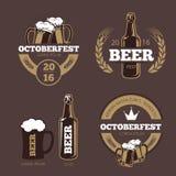 Piwni etykietka szablony dla piwo domu, browarnianej firmy, pubu i baru, royalty ilustracja