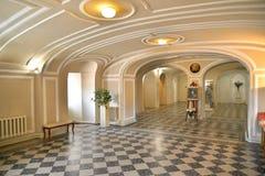 Piwnica kaplica Święta trójca w Gatchina Palac fotografia stock