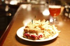piwny belgian reuben kanapkę zdjęcie royalty free