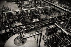 Piwny fabryczny wnętrze Zdjęcia Royalty Free
